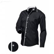 Czarna męska koszula slim fit Victorio