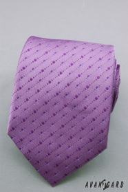 Fioletowy krawat w drobne kropki