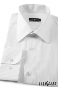 Męska koszula CLASSIC biała 80% bawełna