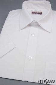 Biała koszula męska z krótkim rękawem