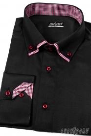 Koszula męska SLIM z długim rękawem Czarny