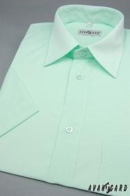 Zielona koszula męska z krótkim rękawem