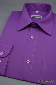 Ciemnofioletowa koszula męska