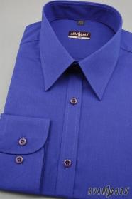 Męska koszula SLIM królewski niebieska wyprzedaż