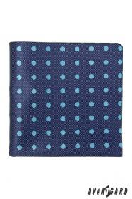 Niebieska poszetka z jasną kropką