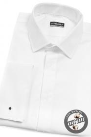 Biała slim koszula smokingowa