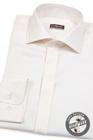 Męska bawełniana koszula SLIM kremowa