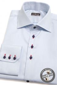 Niebieska koszula SLIM z kolorowymi dodatkami