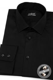 Czarna koszula męska SLIM z bawełny