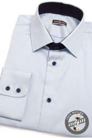 Koszula SLIM jasna ciemnoniebieska
