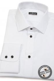 Biała koszula męska SLIM ze 100% bawełny