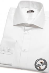 Męska koszula SLIM biała ze 100% bawełny
