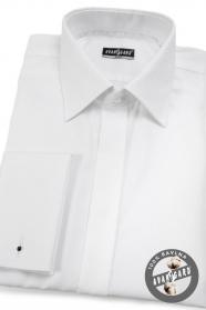 Biała, wąska koszula ze 100% bawełny