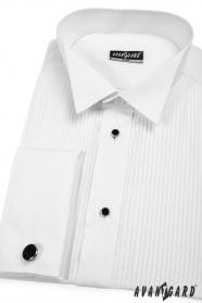Męska smokingowa koszula SLIM z kompletem guzików