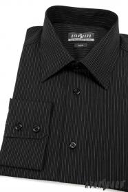 Koszula męska SLIM czarna w paski