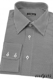 Koszula męska SLIM czarna z drobną kostką