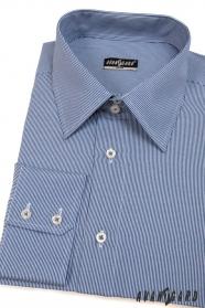 Koszula męska SLIM z niebiesko-białymi paskami