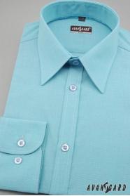 Męska koszula SLIM turkusowa delikatna faktura