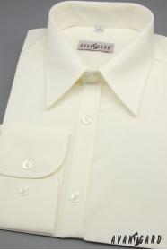 Koszula męska SLIM kremowa 80% bawełna