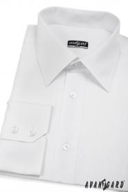 Koszula męska SLIM biała w proste paski