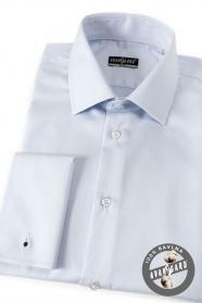 Męska koszula SLIM bawełna jasnoniebieska