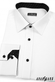 Koszula męska SLIM biało-czarna kombinacja