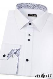 Nowoczesna biała koszula SLIM z długim rękawem