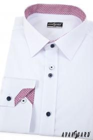 Biała koszula męska Tricolor