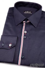 Koszula męska SLIM z długim rękawem niebieska