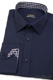 Wąska ciemnoniebieska koszula SLIM