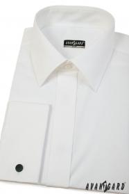 Koszula męska Slim w kremowym kolorze z francuskim mankietem