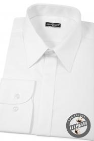 Męska koszula SLIM biała z połyskiem EASY CARE