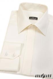 Kremowa męska koszula SLIM z klapką