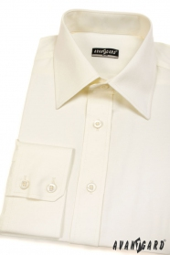 Koszula męska SLIM z długim rękawem kolor kremowy