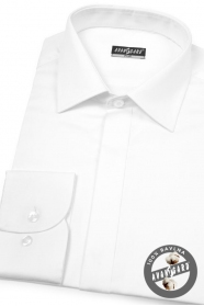 Luksusowa koszula męska SLIM biała gładka