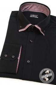Czarna koszula męska REGULAR długi rękaw