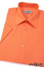 Koszula męska CLASSIC z krótkim rękawem Pomarańczowa
