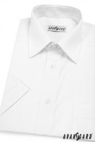 Klasyczna męska koszula z krótkim rękawem Biała