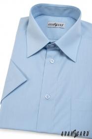 Koszula męska CLASSIC z krótkim rękawem Jasnoniebieska