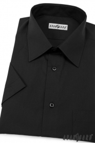 Męska koszula czarna z krótkim rękawem