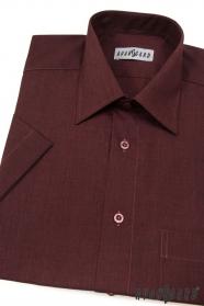 Koszula męska Bordo z krótkim rękawem