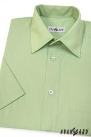 Koszula męska CLASSIC z krótkim rękawem zielona