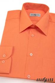 Pomarańczowa koszula męska z długim rękawem