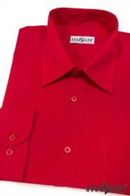 Koszula męska CLASSIC z długim rękawem czerwona