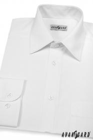 Męska biała koszula CLASSIC z długim rękawem