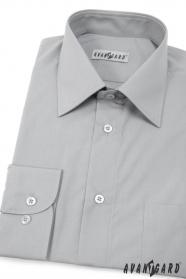 Szara koszula męska CLASSIC długi rękaw