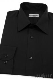 Czarna koszula męska CLASSIC z długim rękawem