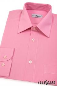 Koszula różowa męska CLASSIC z długim rękawem