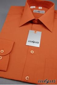 Koszula męska CLASSIC z długim rękawem, kolor cegiełkowy