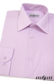 Koszula męska CLASSIC z długim rękawem Liliowa